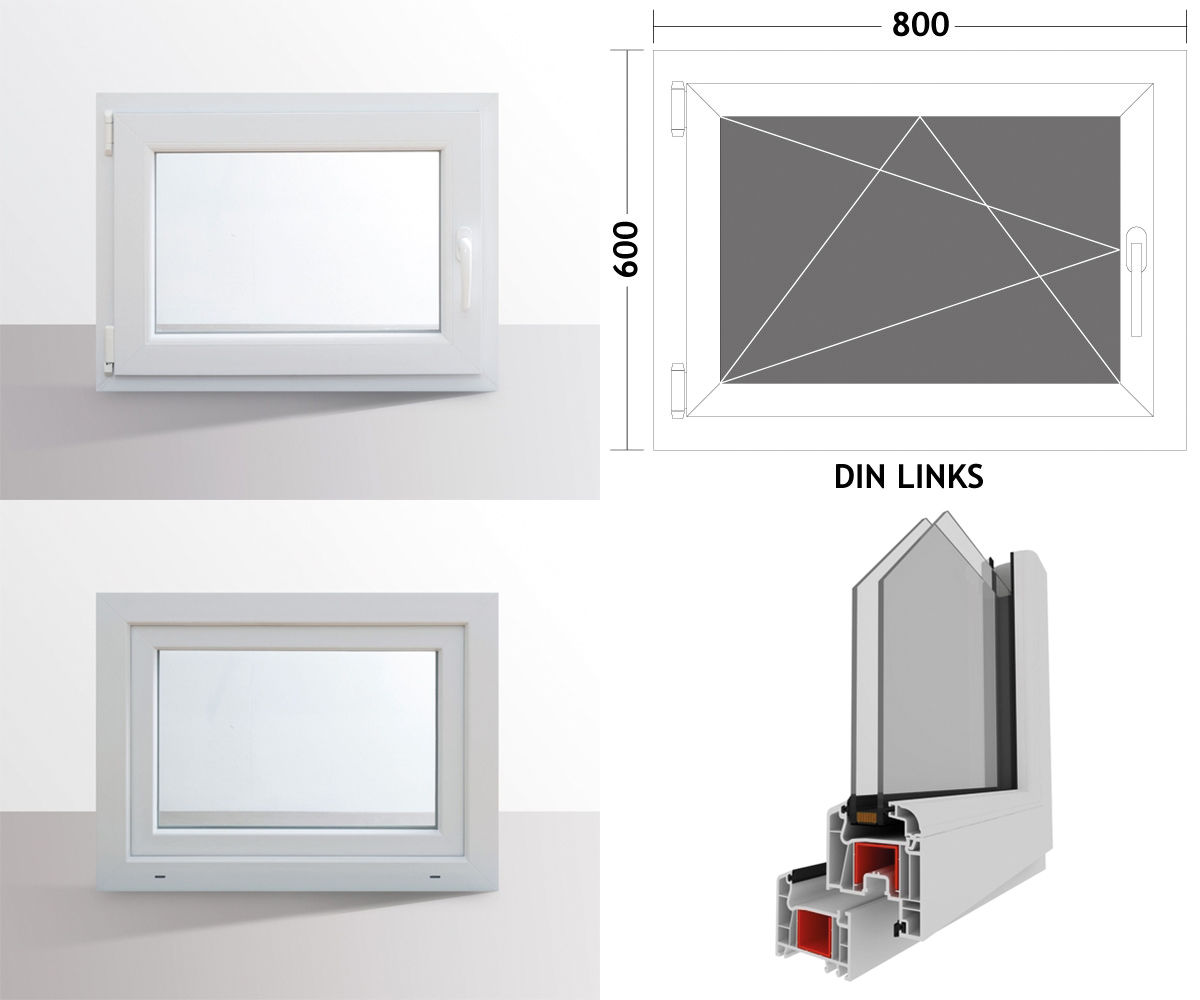 hori fenster kunststoff wei dreh kipp fenster 2 fach verglasung alle gr en ebay. Black Bedroom Furniture Sets. Home Design Ideas