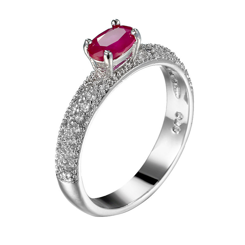 Fashion Sapphire Women Simple Rings Engagement Jewelry ...