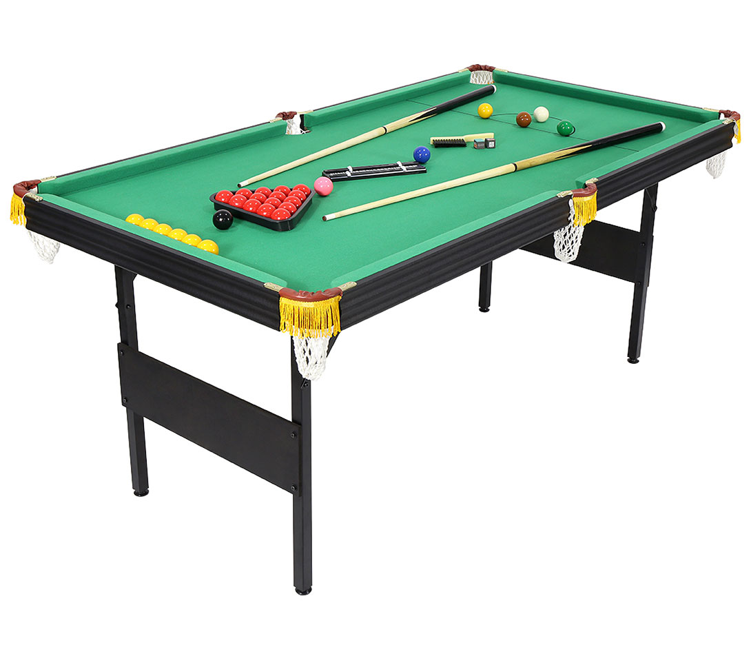 6ft 2 in 1 folding snooker pool table with billiard balls cue other accessories ebay - Billiard table accessories ...