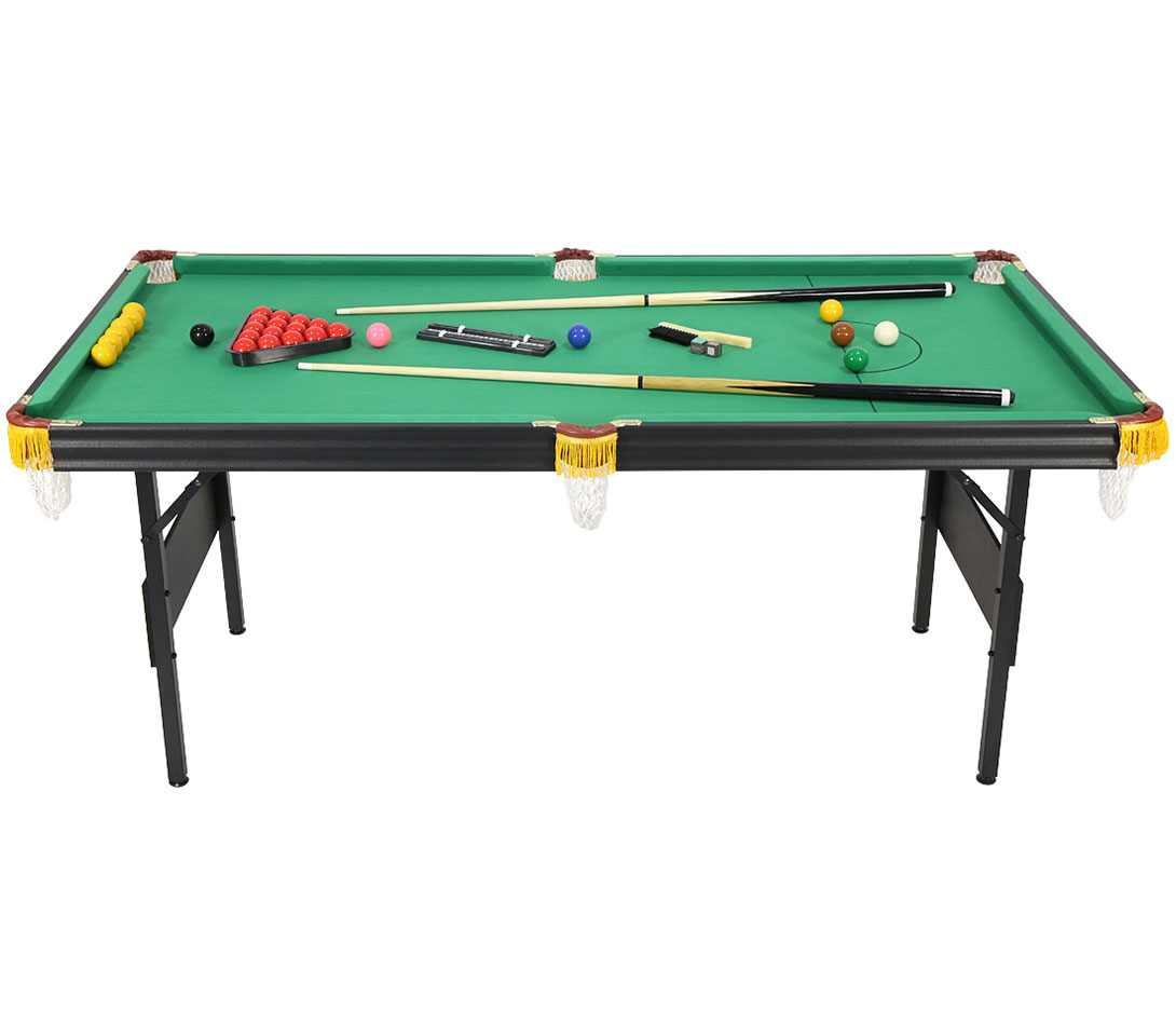 6ft 2 in 1 Folding Snooker Pool Table with Billiard Balls Cue, other Accessories | eBay