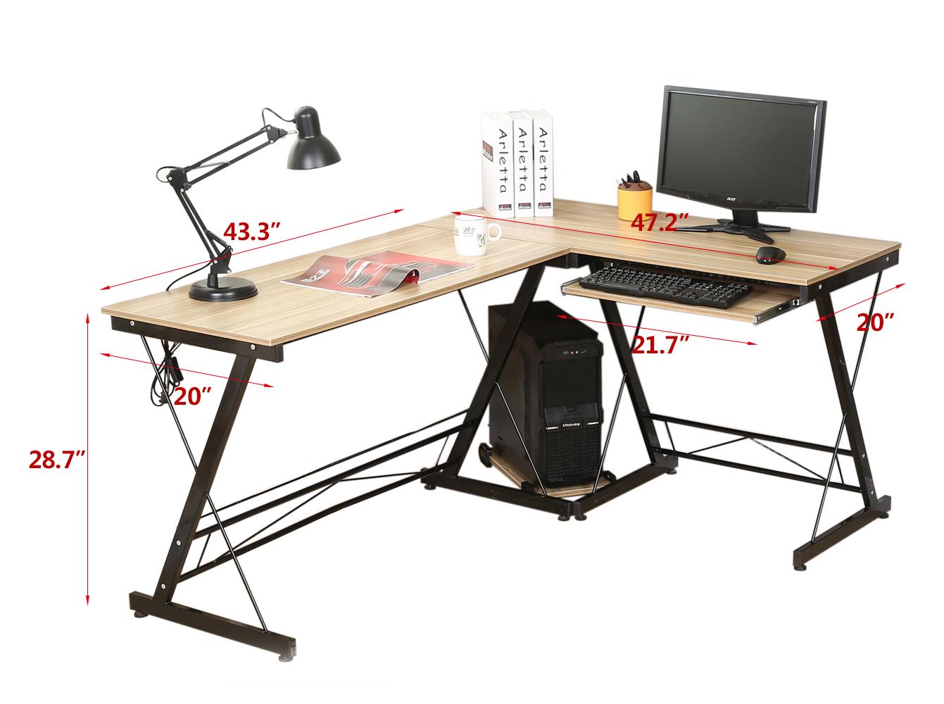 casa ufficio scrivania del computer pc da tavolo di lavoro. Black Bedroom Furniture Sets. Home Design Ideas