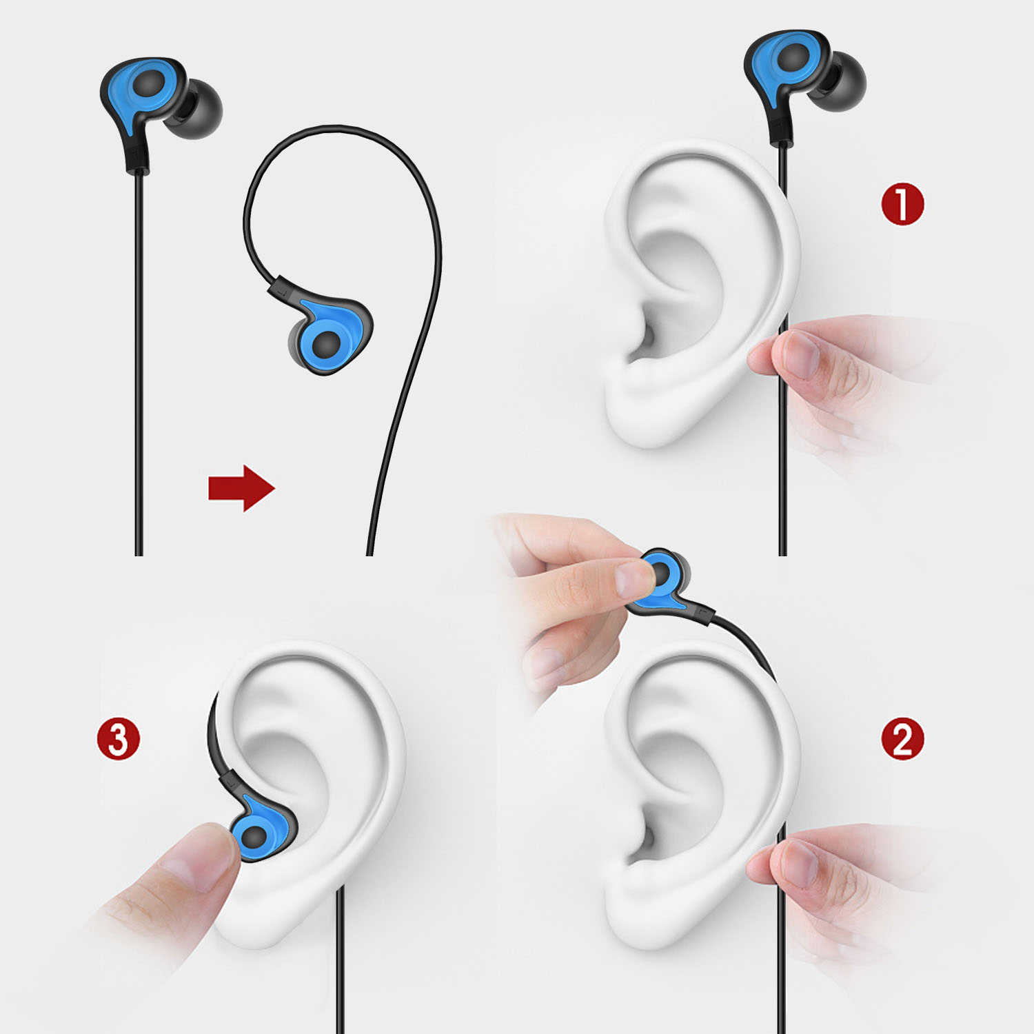 Earbuds tangle free - uiisi earbuds reducer