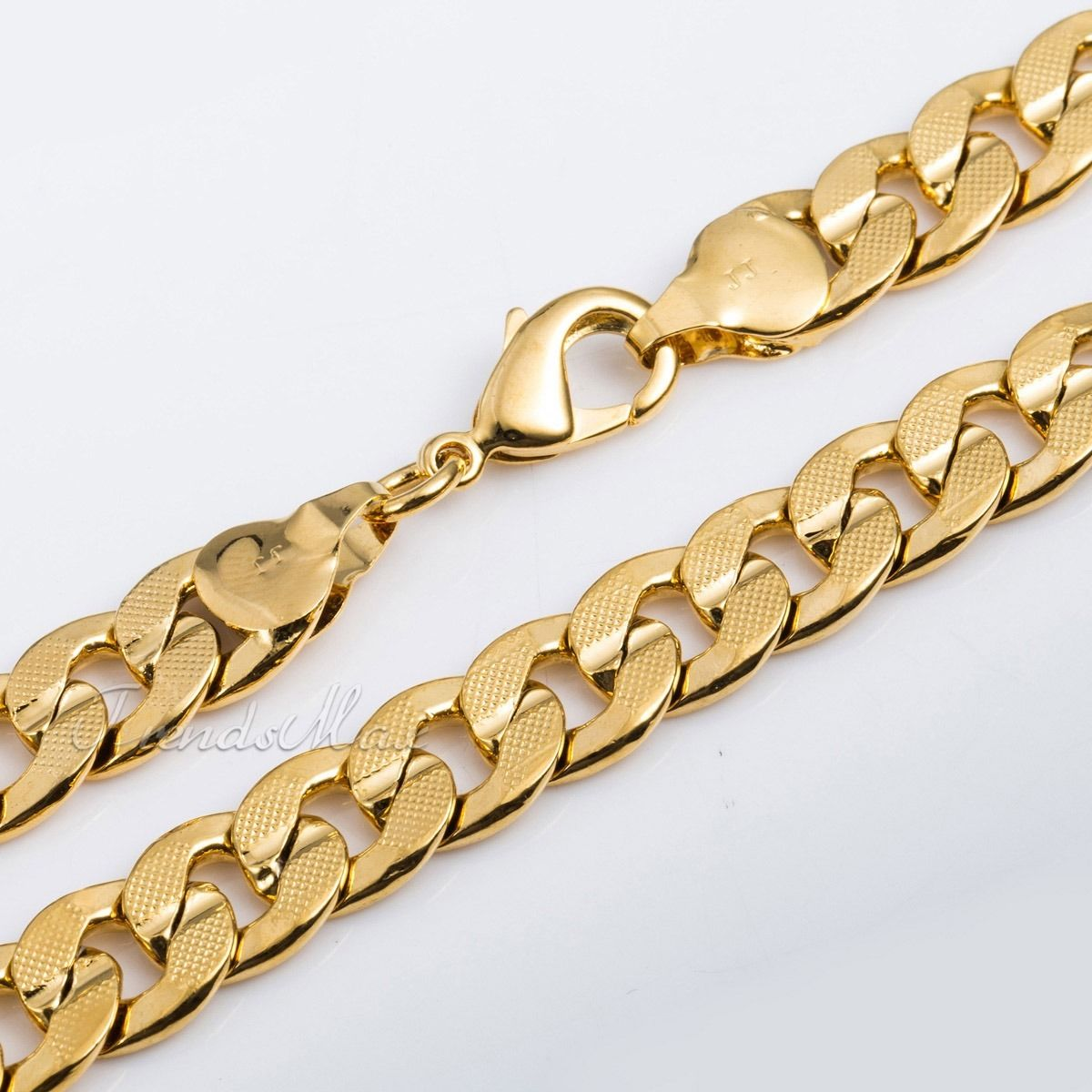 9mm mens chain curb cuban yellow gold filled gf bracelet 9