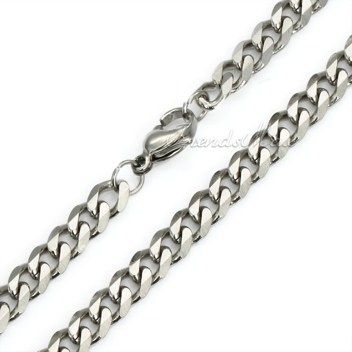 18 36 mens stainless steel silver chain necklace 3 5 7 9. Black Bedroom Furniture Sets. Home Design Ideas