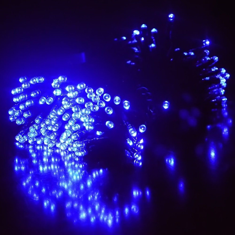 neu 100 500led solar lichterkette garten au en kette party deko beleuchtung ebay. Black Bedroom Furniture Sets. Home Design Ideas