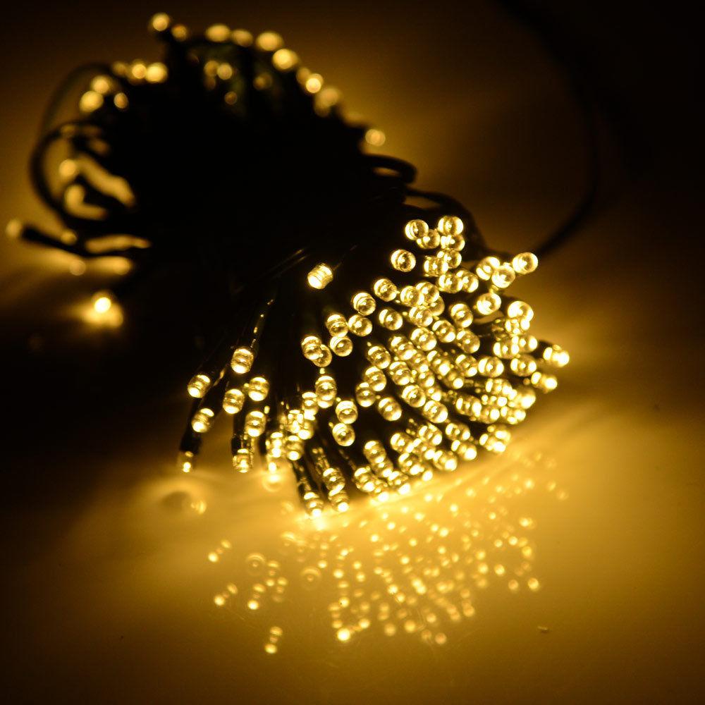 22m 200 led wasserdicht solar lichterkette au en party garten leuchten warmwei. Black Bedroom Furniture Sets. Home Design Ideas