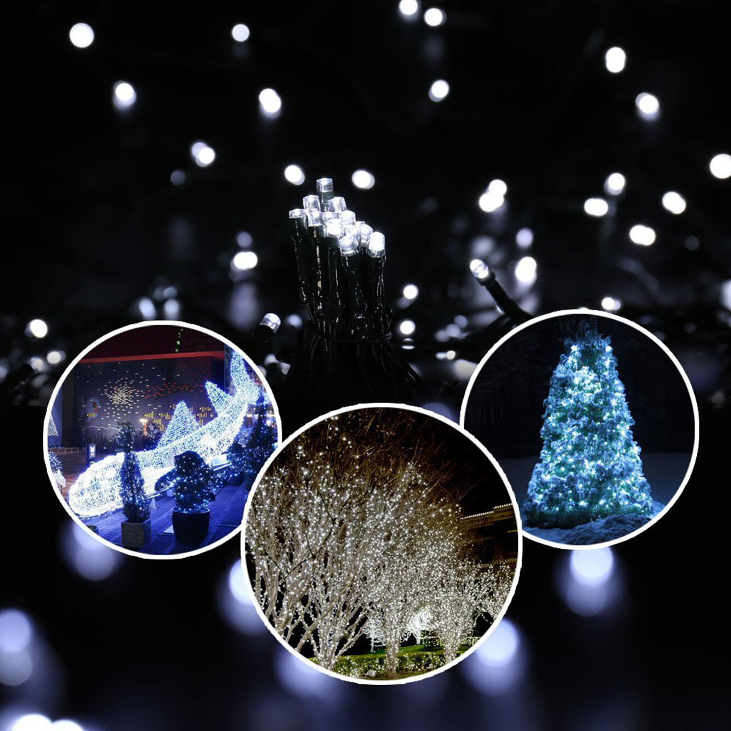 12 50m led solar lichterkette weihnachten leuchten deko dekoration garten neu ebay. Black Bedroom Furniture Sets. Home Design Ideas