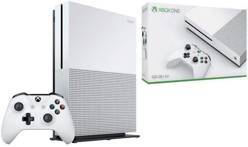 Microsoft Xbox One S 500GB/1TB Gaming Console White (Certified Refurbished)