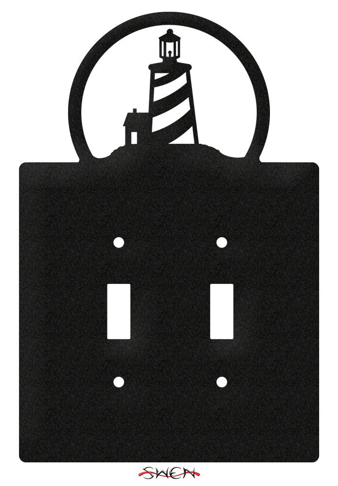 Swen products lighthouse nautical light switch plate for Lighthouse switch plates