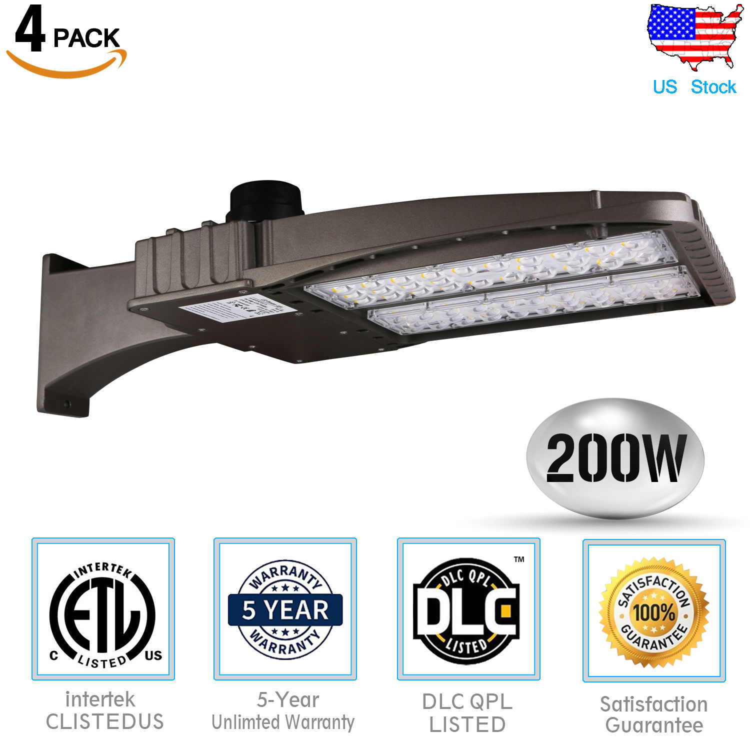 200W 300W LED Parking Lot Outdoor Road Light Fixtures