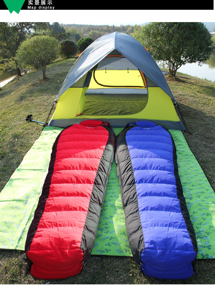 Mummy Sleeping Bag Camping Hiking With Carrying Case Tent ...