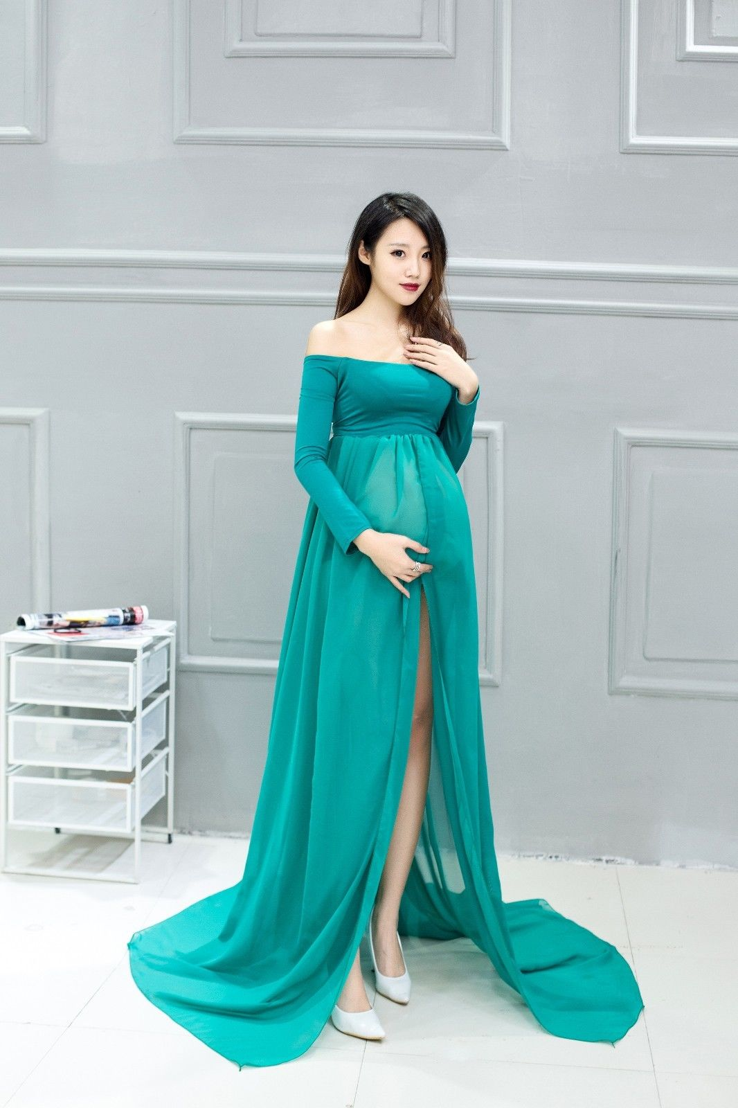 hot sexy maternity gown photography photo shoot fancy