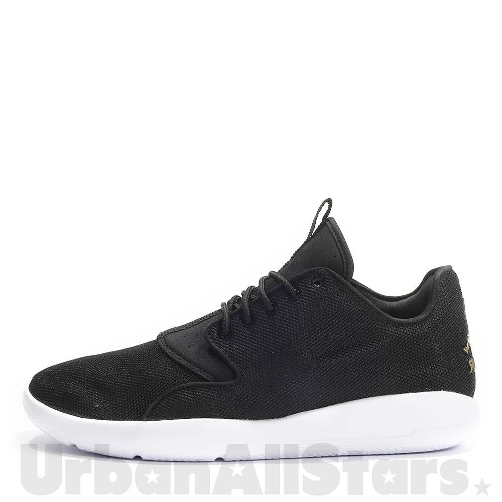 Mens-Jordan-Eclipse-Trainers-Black-White-Gold-Casual-