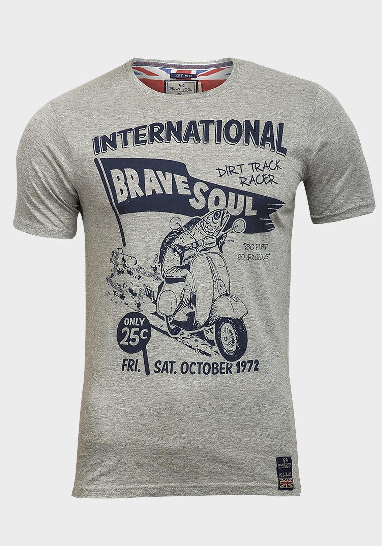 Mens brave soul race dirt track print graphic short sleeve for Marathon t shirt printing