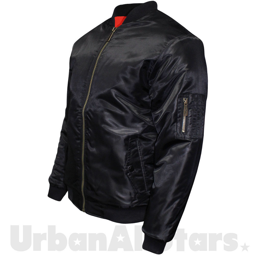 Mens Soul Star MA1 Bomber Jacket Military Flight Biker Jacket ...