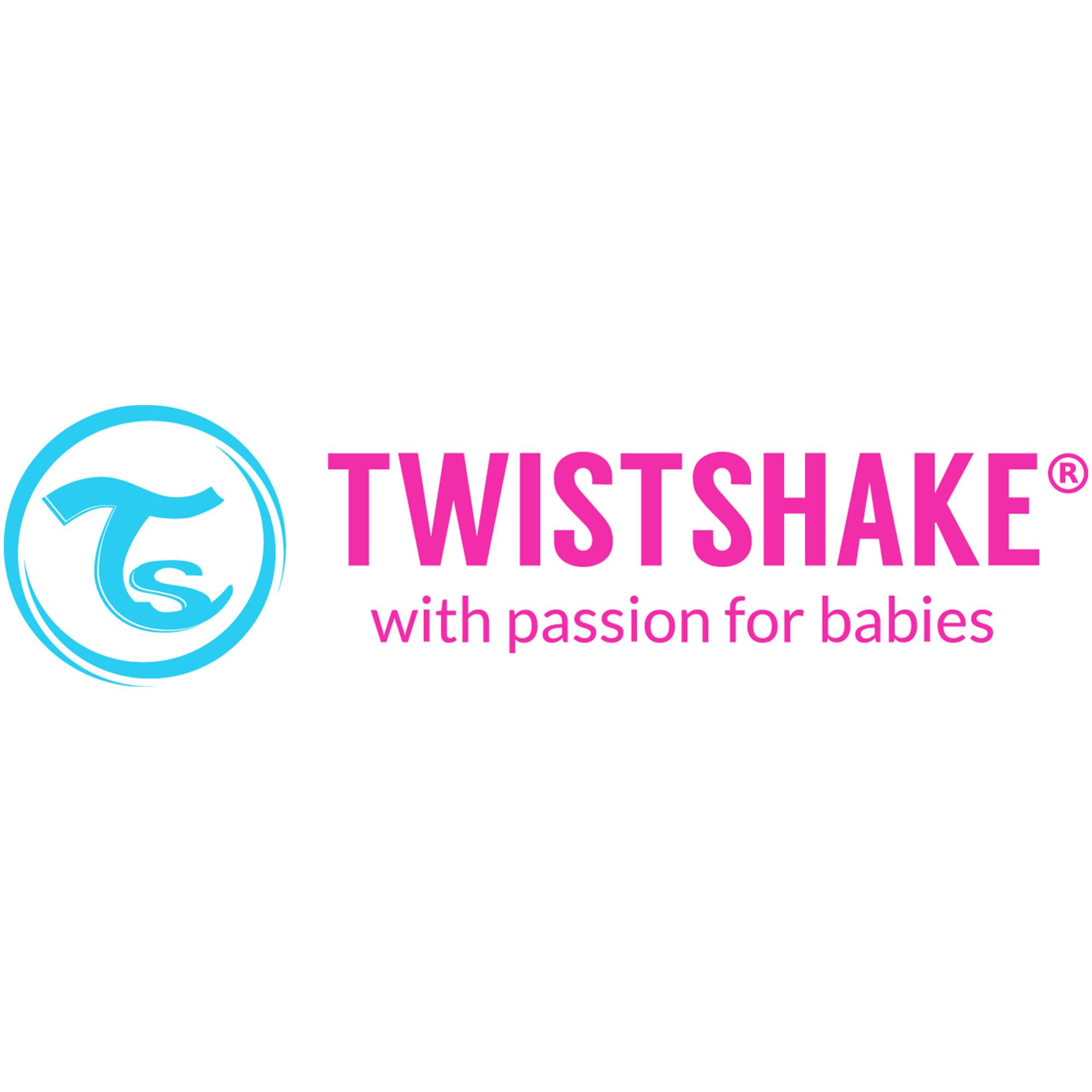 tacto suave ergonómico juego De Cubiertos de aprendizaje 6mth+ Twistshake Anti-slip