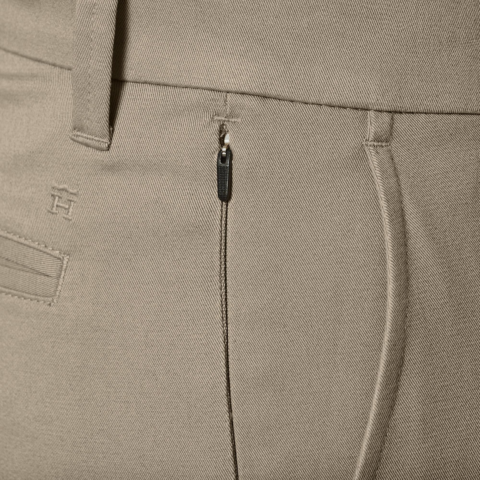 JM Haggar Men/'s Luxury Comfort Flat Front Chino Pant  Slim Fit HC00355