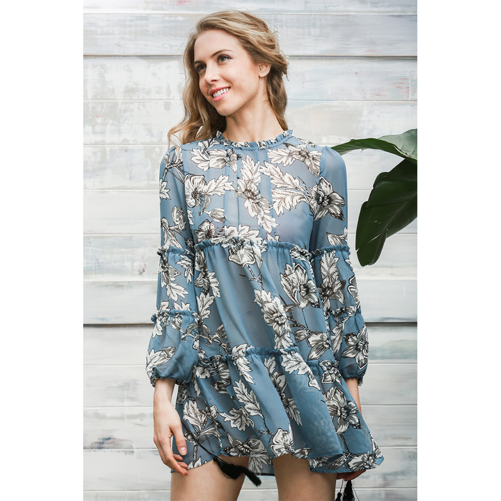 Dress Ladies Long Sleeve Fashion Party Dress Women\'s Cocktail ...