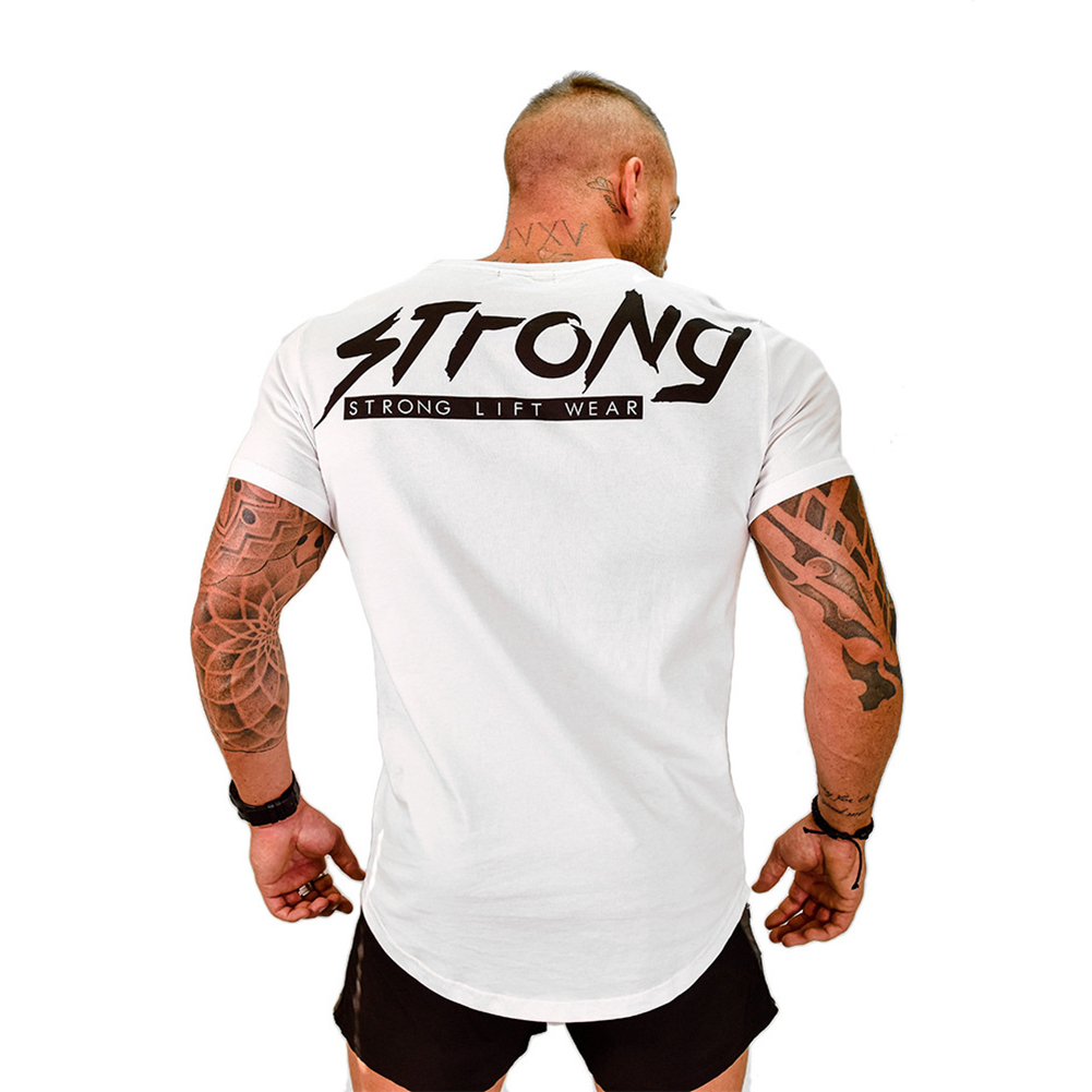 Men t shirt strong lift wear muscle bodybuilding for Fitness shirts for men