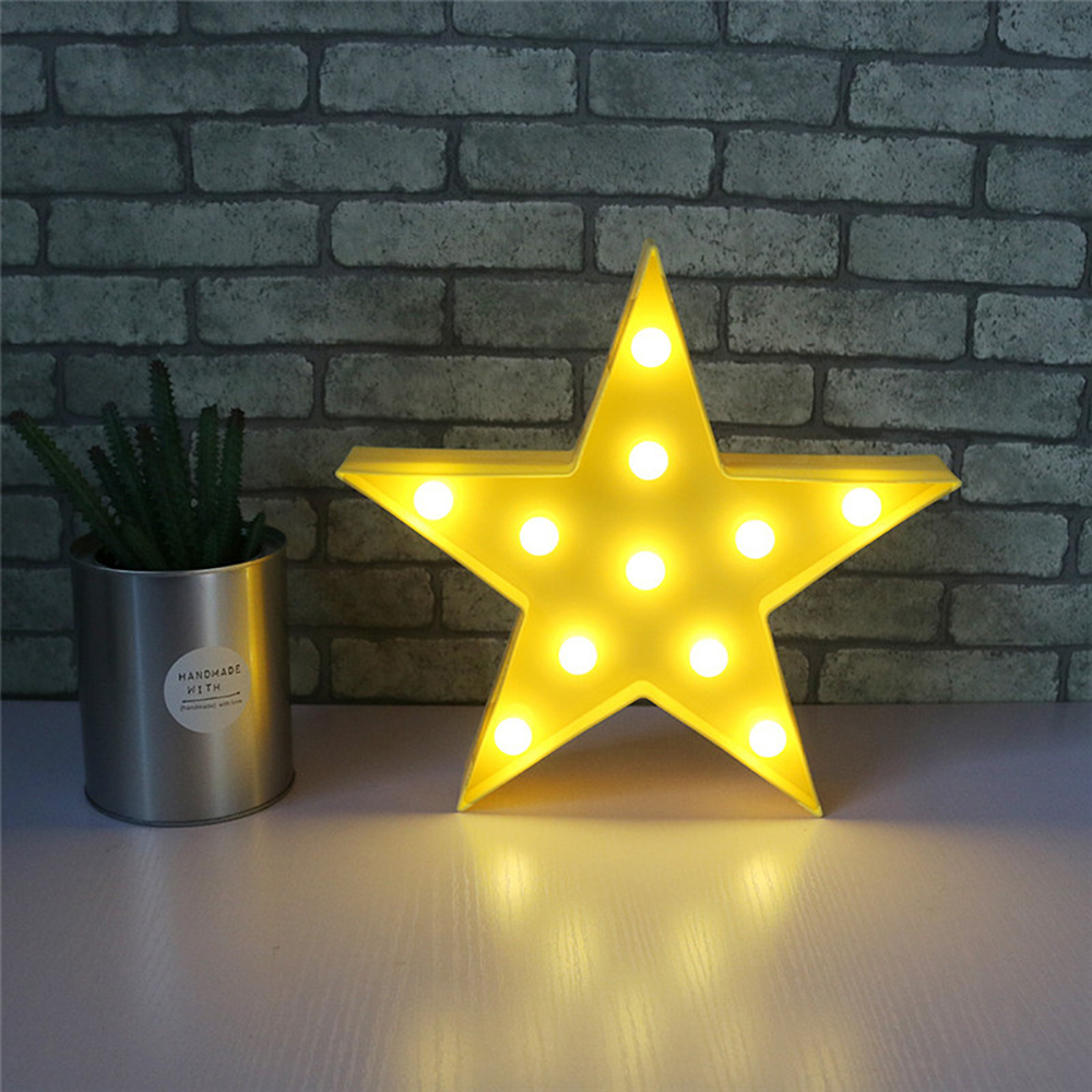 Night Light Star Kids Bedroom Wall Lamp Cloud Moon Decor LED Home ...