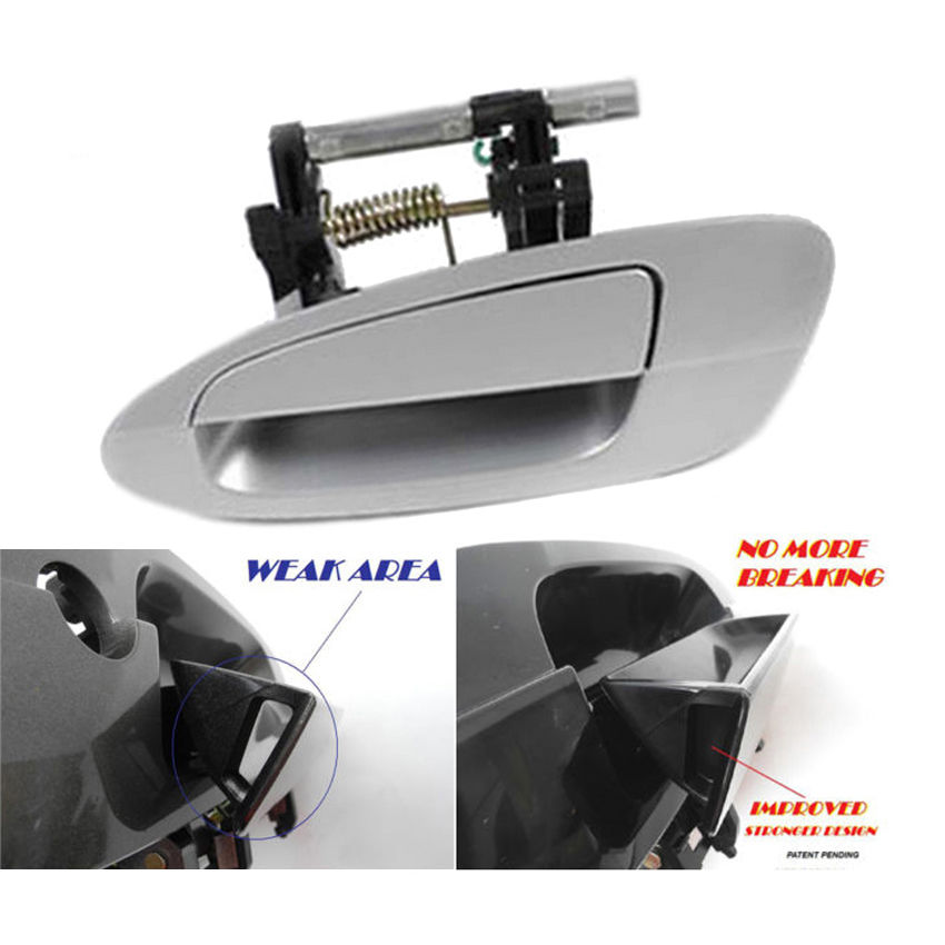 For 2002-2006 02 Nissan Altima Outer Door Handle K12 Silver Rear Left B3753