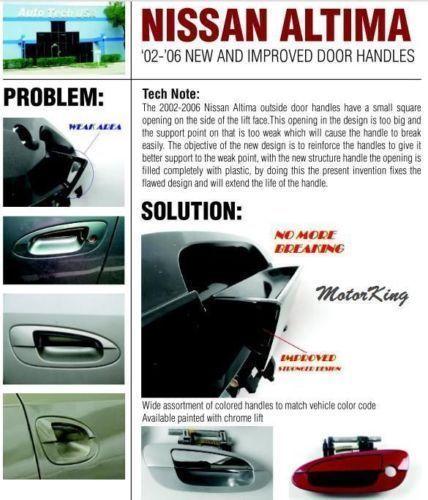 MotorKing For 02-06 NISSAN ALTIMA B3757 Rear Left Outside Door Handle K11 Smoke