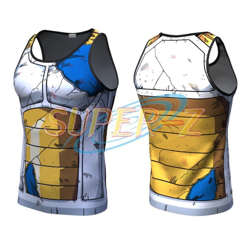 New Dragon Ball Z Vegeta Compression Tank Top Sleeveless ...