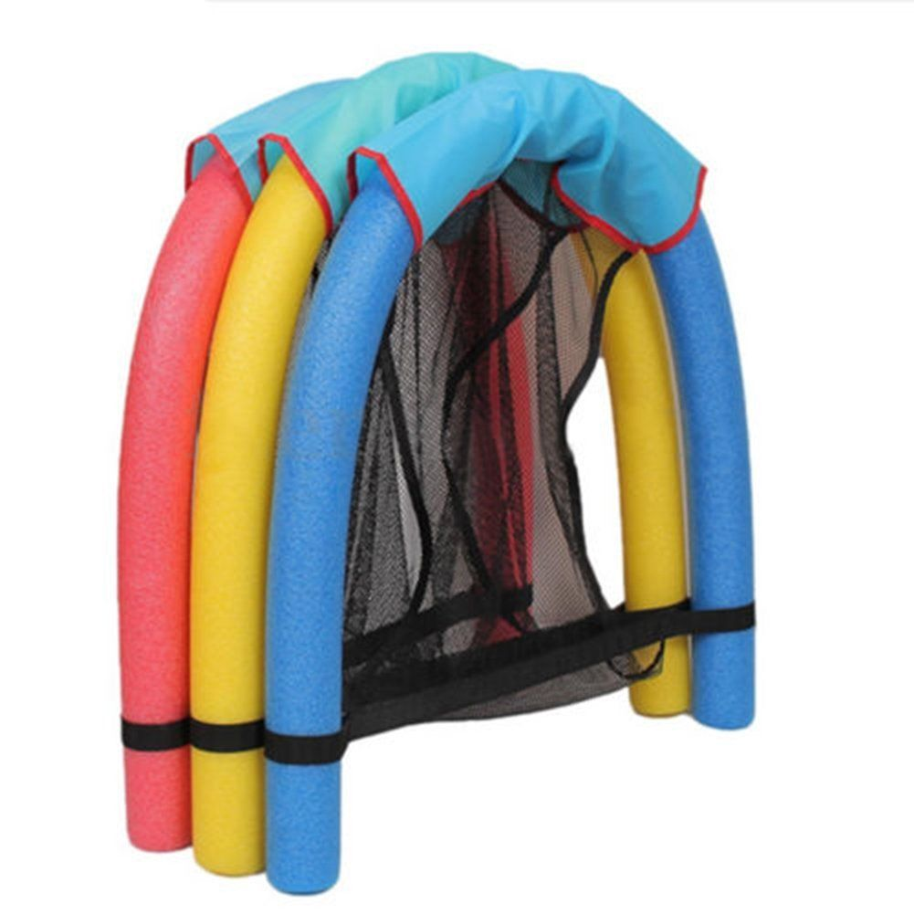 Water toy noodle floating chair net recreation water floating seat swimming pool ebay for Swimming pool noodle fun chair
