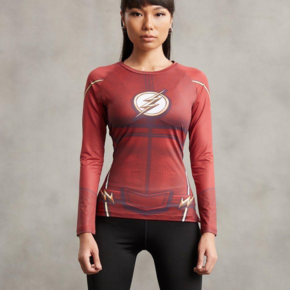 damen marvel superheld t shirt kompression langarm kost m. Black Bedroom Furniture Sets. Home Design Ideas