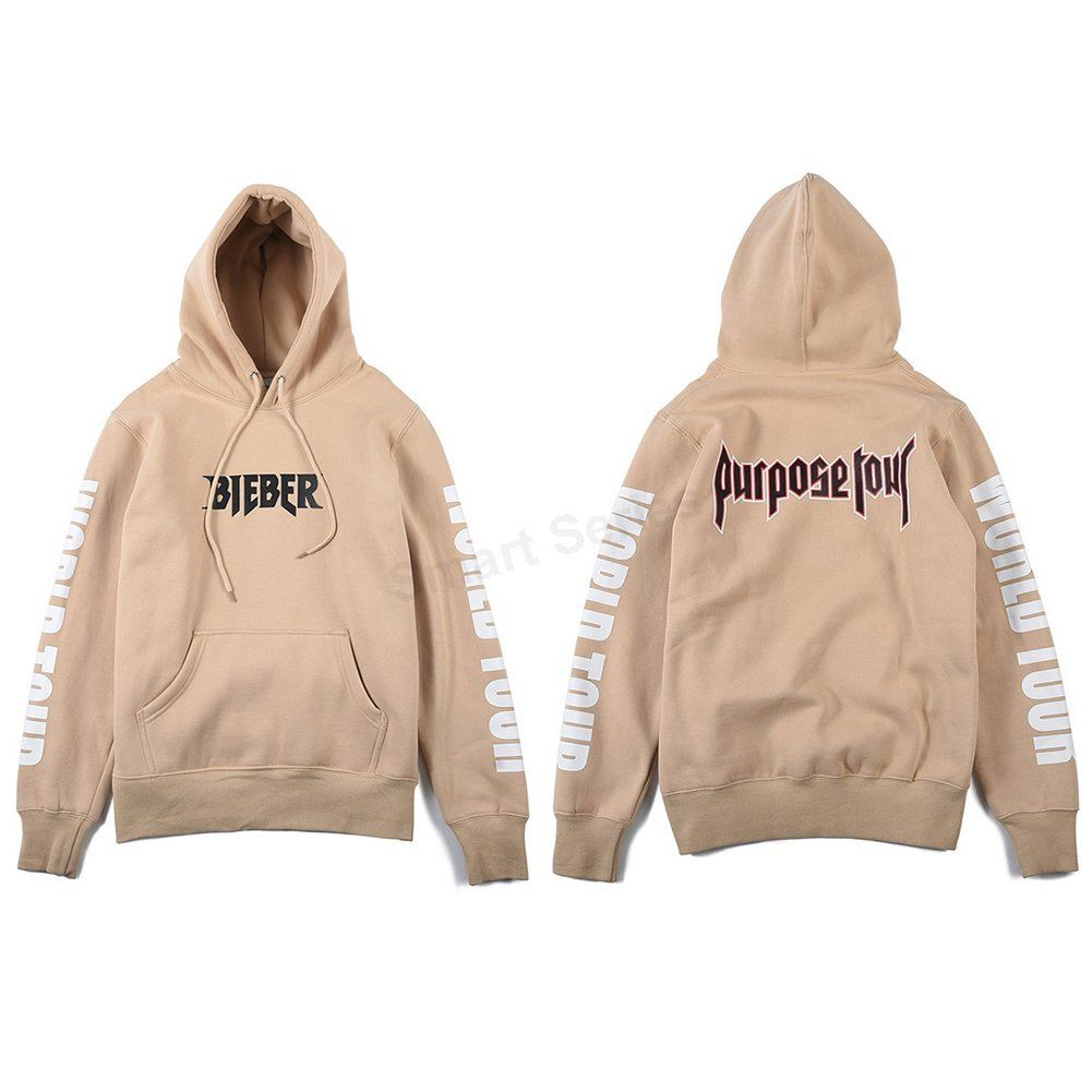 justin bieber purpose tour sweatshirt hoodie apricot. Black Bedroom Furniture Sets. Home Design Ideas