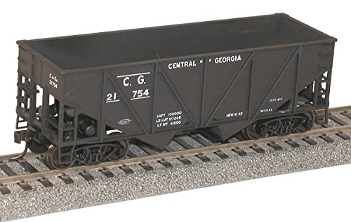 Central of Georgia Accurail 2722 HO Scale KIT 55-Ton Wood Twin Hopper