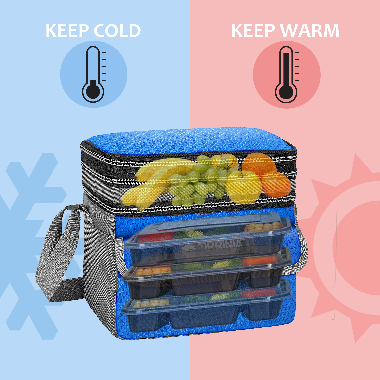 Lunch Bag Insulated Lunch Tote Bag Leakproof Cooler Bag for Men Women Kids Adult