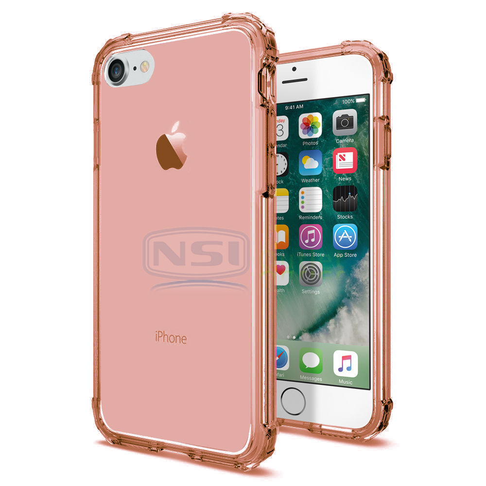 Crystal Clear Transparent Shockproof Soft TPU Case Cover For iPhone 7/ 8 /8 Plus