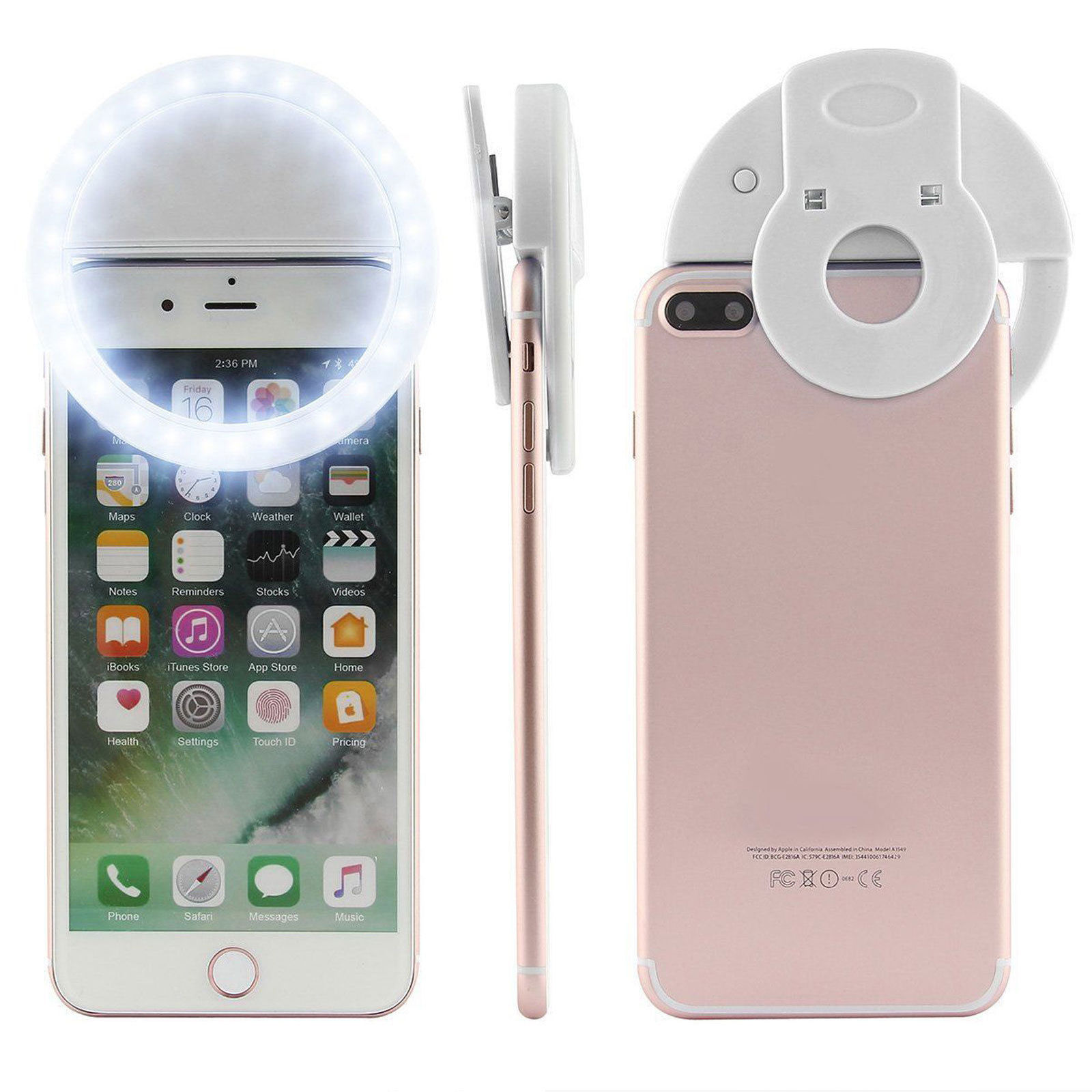 EEEKit 40 LED Selfie Fill Light Up Phone Ring Flash+Selfie Stick+Tripod+Remote