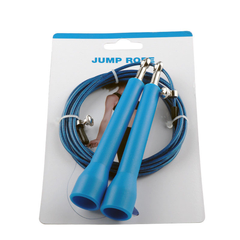 NEW 3m Steel Wire Speed Skipping Jump Rope Adjustable Crossfit Fitness Exercise