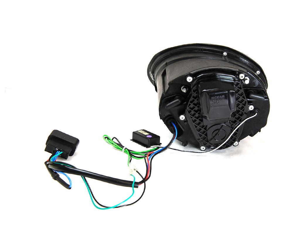 vw beetle black bi xenon projector headlights  led drl ebay