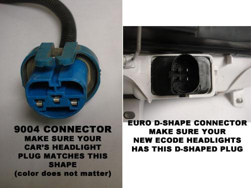 93 99 vw mk3 golf  jetta euro headlight wiring kit 9004