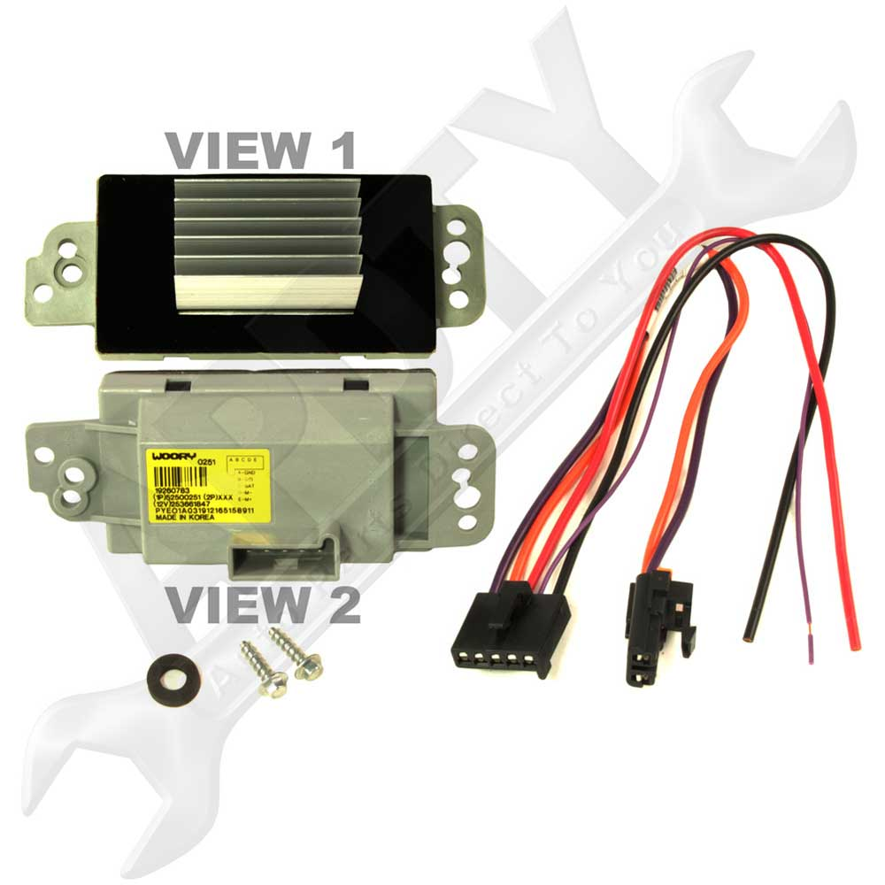15 81773 new design blower motor speed control module resistor for 2003 2004 Trailblazer Blower Motor Location at eliteediting.co