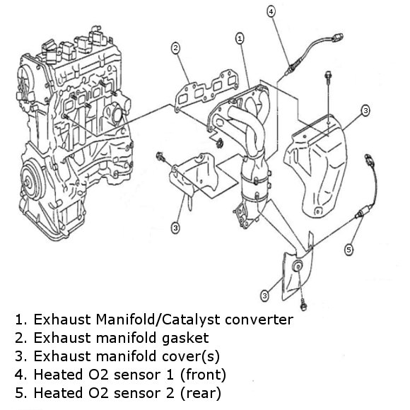 2005 nissan altima 2 5 catalytic converter diagram