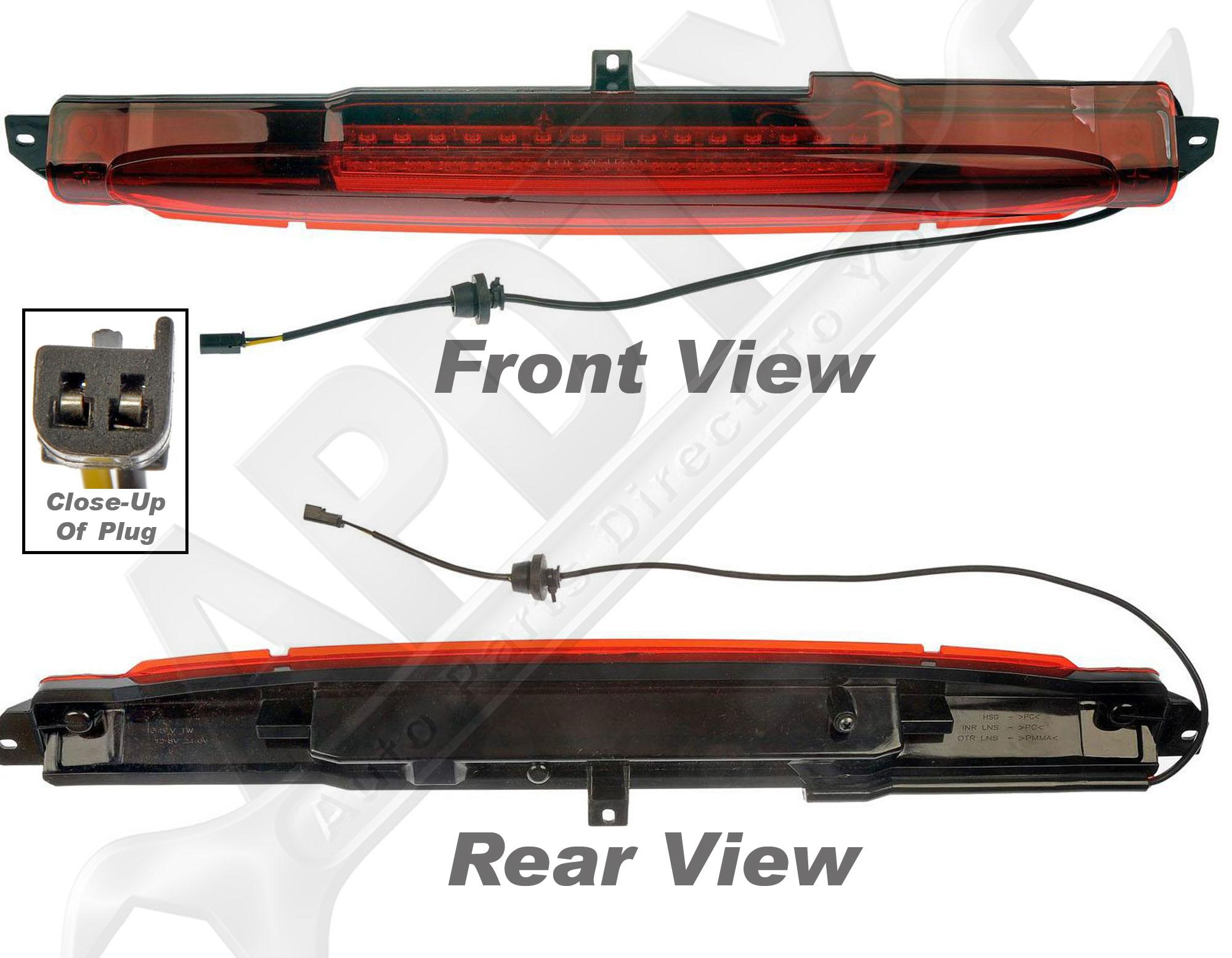 apdty 034315 3rd third high mount brake lamp light assembly gm 15201921. Black Bedroom Furniture Sets. Home Design Ideas
