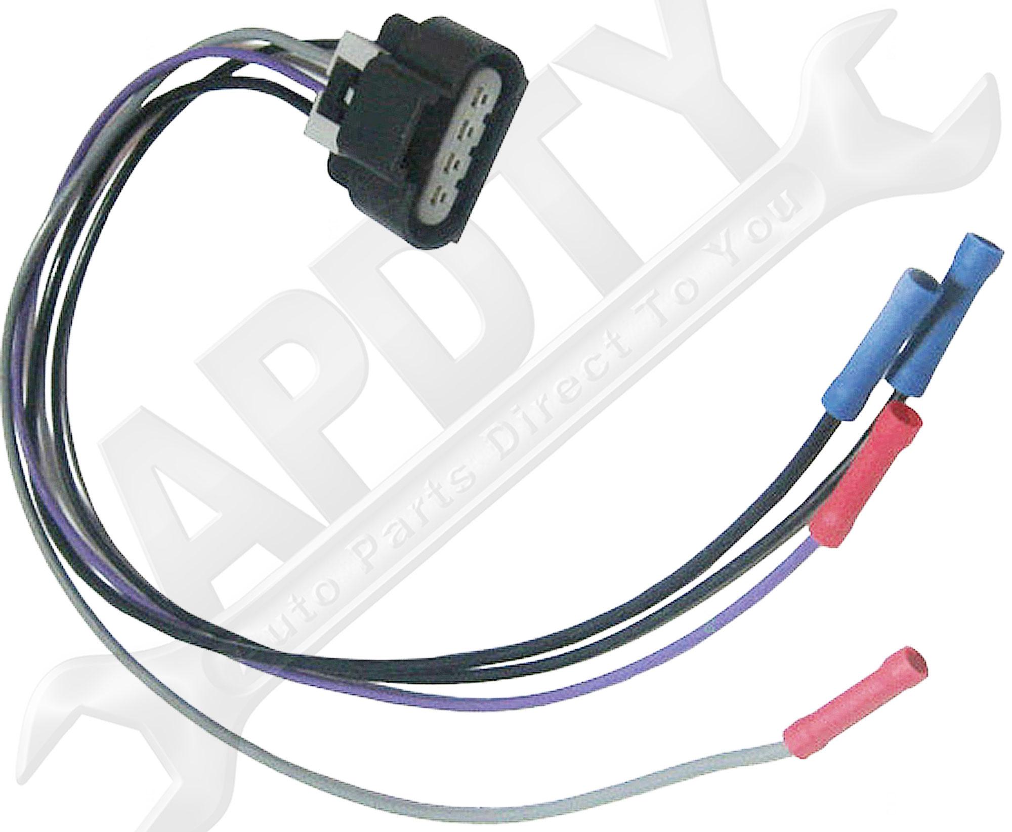 Fuel Pump Wiring Harness Connectors : Apdty fuel pump wiring harness with pin flat oval