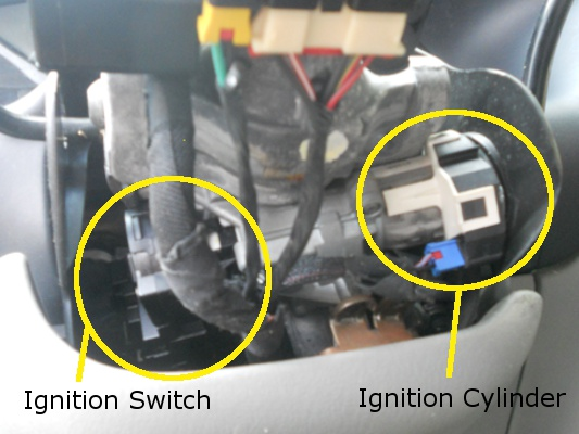 will 2002 GMC Ignition Switch Removal front of ignition panels