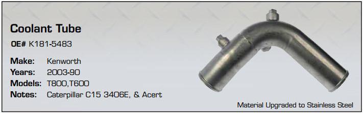 K181-5483 Coolant Tube