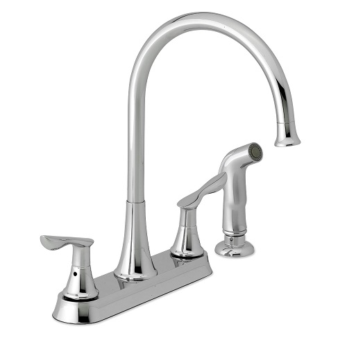 Gooseneck Sink Faucet : ... Waterpik KFNE213 Newcastle Gooseneck 2-Handle Kitchen Faucet in Chrome