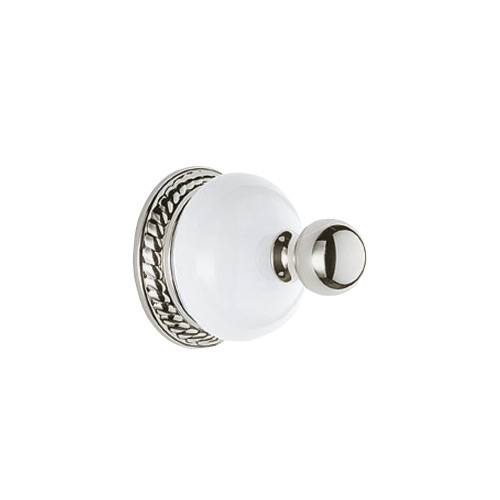 Delta 69435-PN Nickel Porcelain Bathroom Robe Hook 2.5