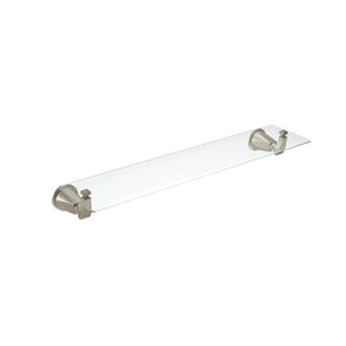 Brushed Nickel Bathroom Floor Shelf : Moen showhouse yb bn divine glass bathroom shelf