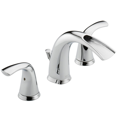 Delta 35708LF Nyla Two Handle Widespread Bathroom Sink Faucet, Chrome