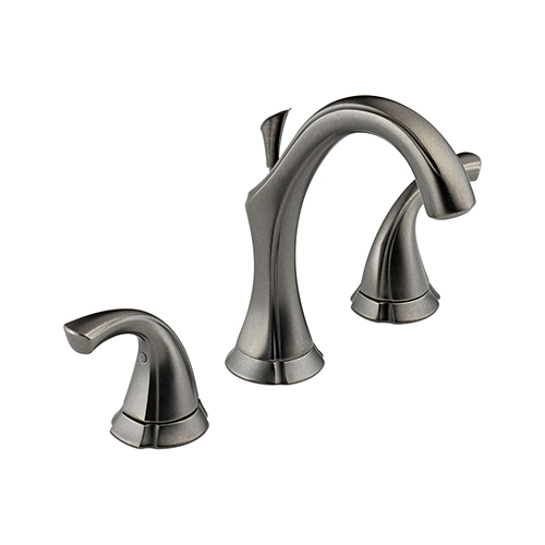 Delta 3592 pt addison two handle widespread bathroom sink faucet aged pewter ebay for Delta widespread bathroom faucet