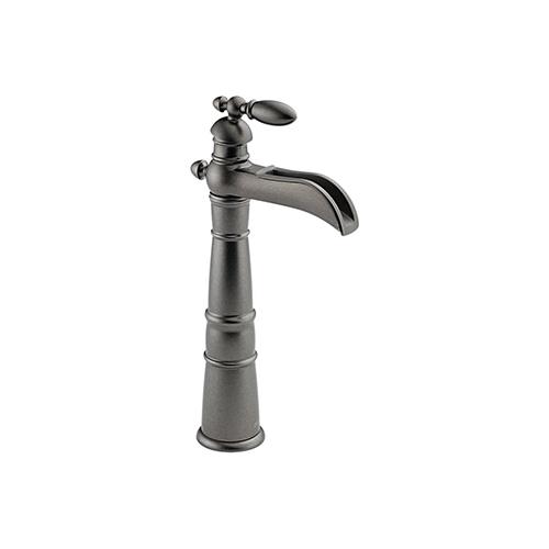 Delta 754 PT Victorian Open Spout Bathroom Vessel Sink Faucet Aged Pewter