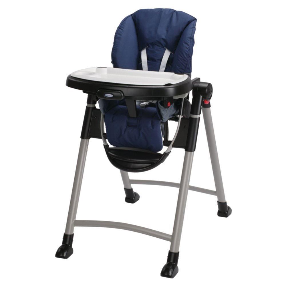 Graco 1918633 contempo baby chaise haute in bleu nuit ebay for Chaise haute graco